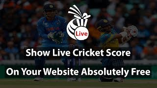 How to Show Live Cricket Score on Your Website