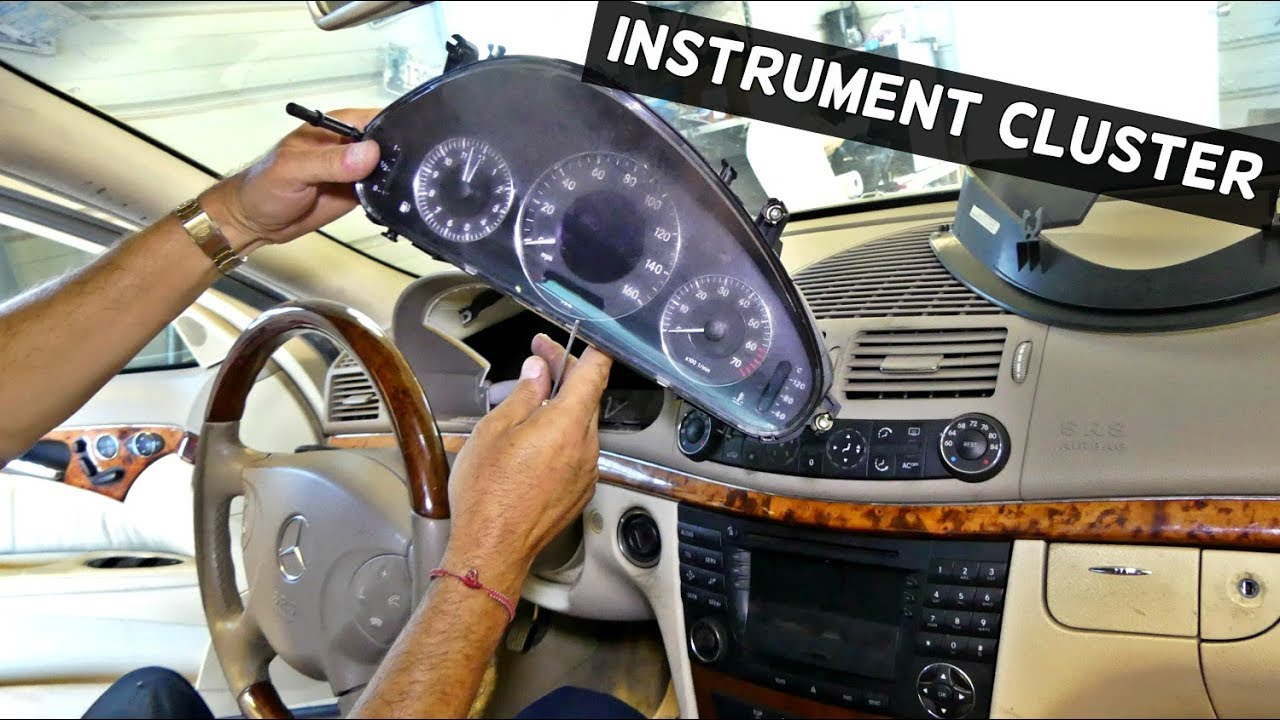 How To Remove Instrument Cluster Gauges On Mercedes W211