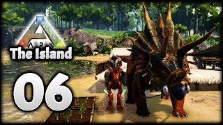 TEK RAPTOR, Triceratops & Carrot Farm! | Let's Play ARK Survival Evolved: The Island | Episode 6
