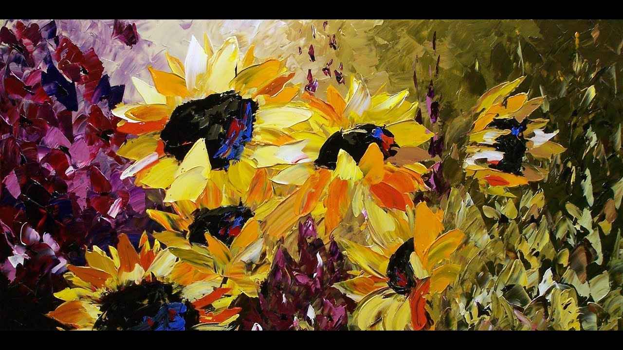 Beautiful Flower Paintings by Lena Karpinsky - YouTube