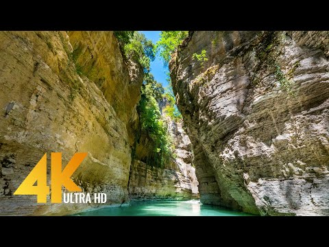 Journey along the Osumi Canyon, Albania - Most Beautiful Places in Europe - 4K Nature Relax Video