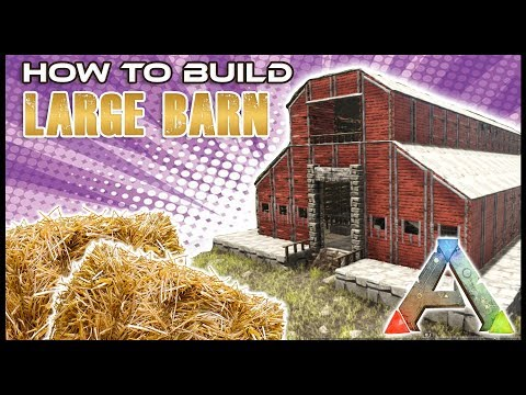 Barn With Stables Tutorial  ARK Survival Evolved   How To Build