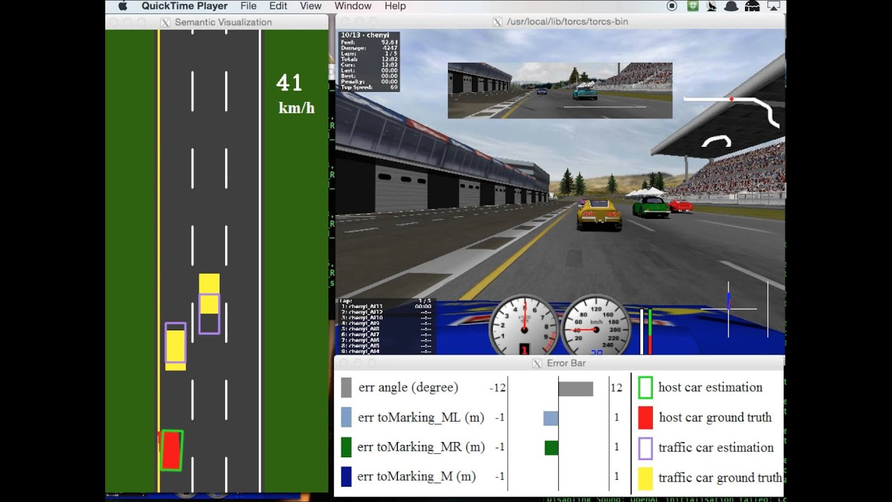 CS231N demo — TORCS video game collaborating with VGG in real-time