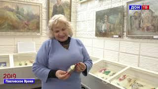 Виставка новорічних іграшок в музеї. р. Павловськ Воронезької обл.