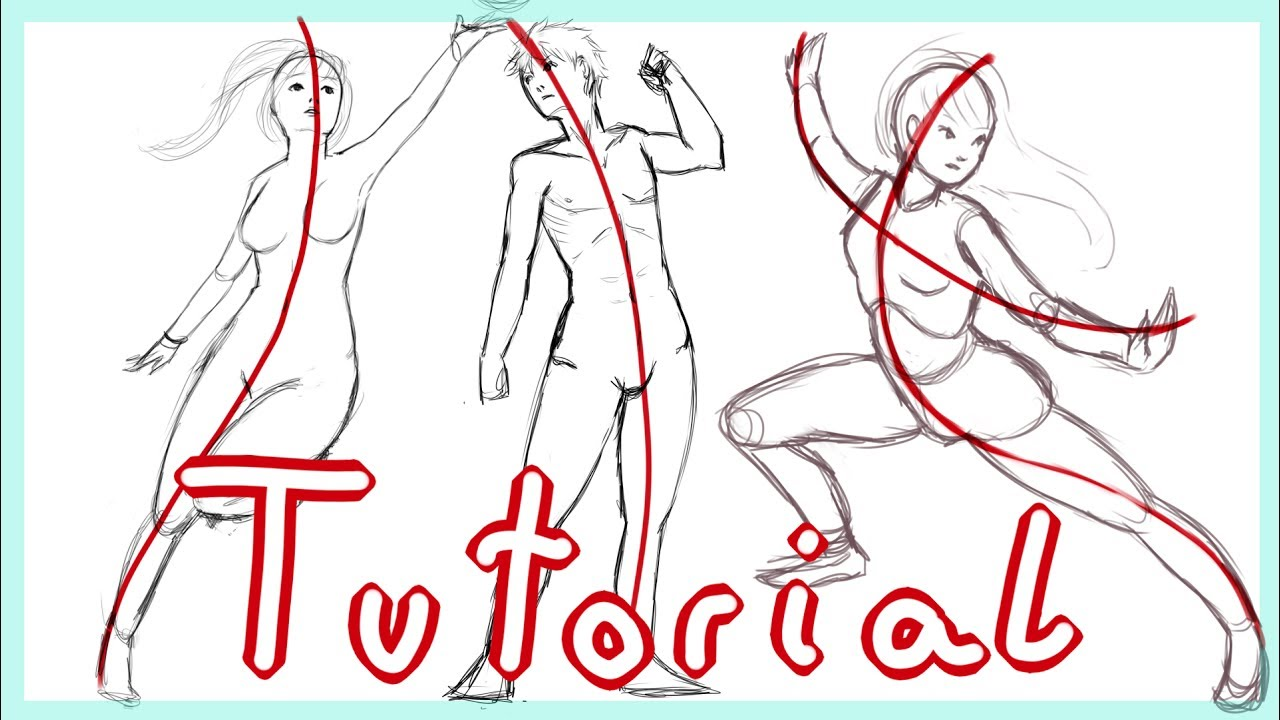 Line Art Action Photo : Action line tutorial how to create dynamic poses youtube