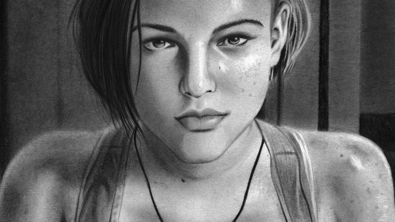 Speed Drawing Jill Valentine Sasha Zotova Resident Evil 3