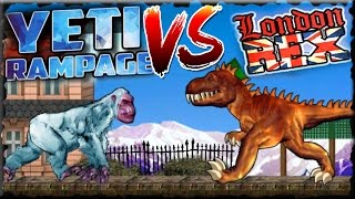 Yeti Rampage Vs London Rex Full Game Walkthrough All Levels