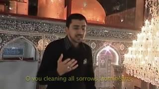 الرادود أباذر الحلواجي يغسل ضريح الامام الحسين (ع)