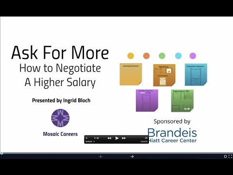 Ask for More: How to Negotiate a Higher Salary