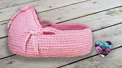 Baby Crochet Moses Basket Youtube