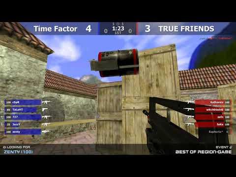 Полуфинал турнира по CS 1.6 от проекта Region-game.ru [TRUE FRIENDS -vs- Time Factor]3map @kn1fe TV