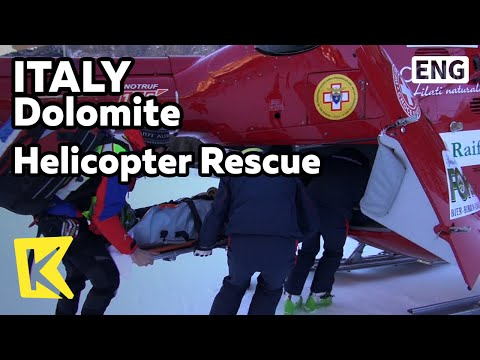 【K】Italy Travel-Dolomites[이탈리아 여행-돌로미티]산악구조대 실제 상황/Mountain Climber/Sarntal/Helicopter Rescue/Tyrol