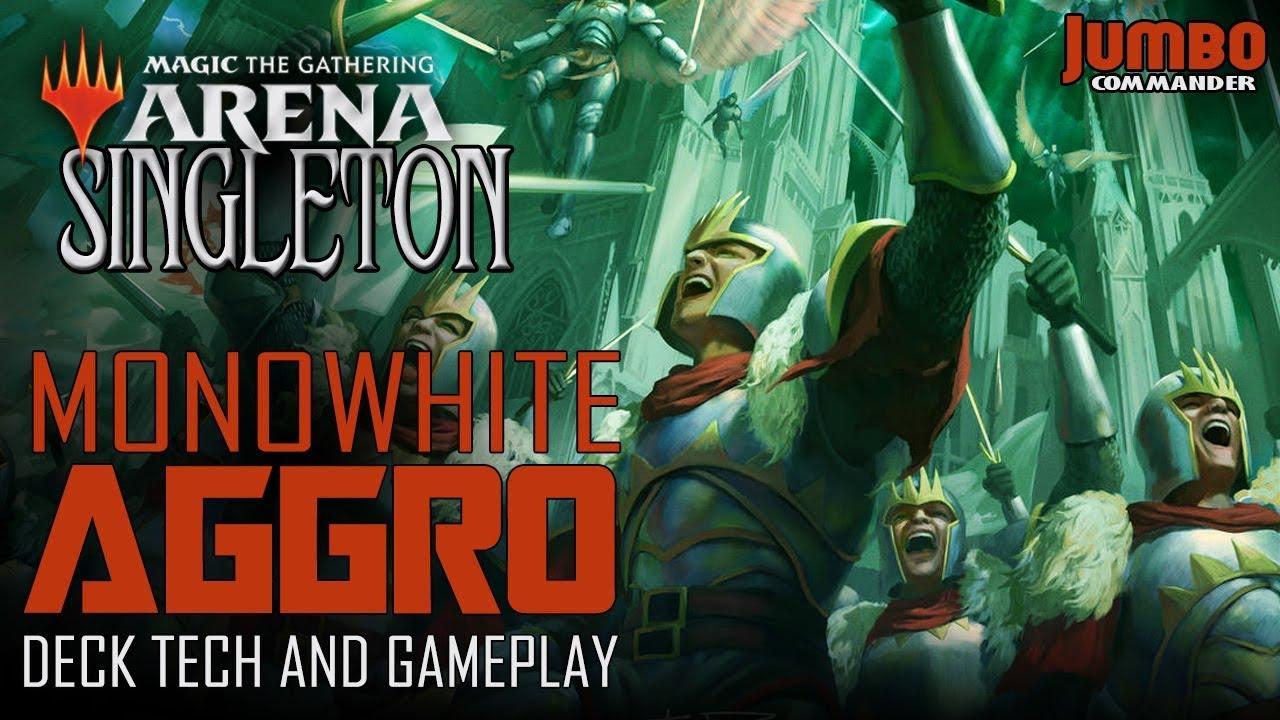 MTG Arena Singleton: Monowhite Aggro Deck Tech + Gameplay