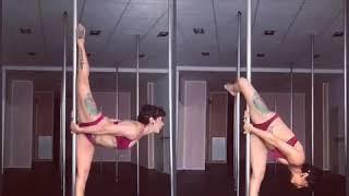 Pole Dance уроки. Шпагат на пилоне.