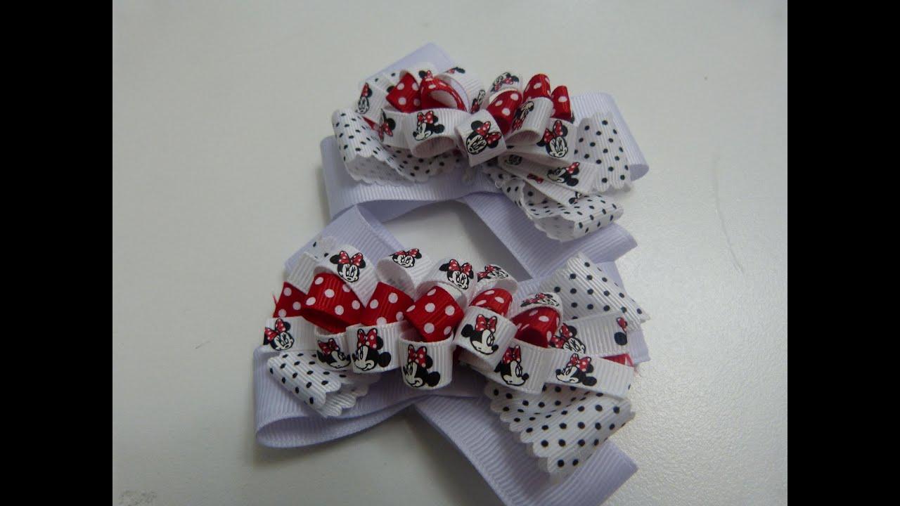 Moos pequeos de liston para Nias Diy ribbon bow How to make