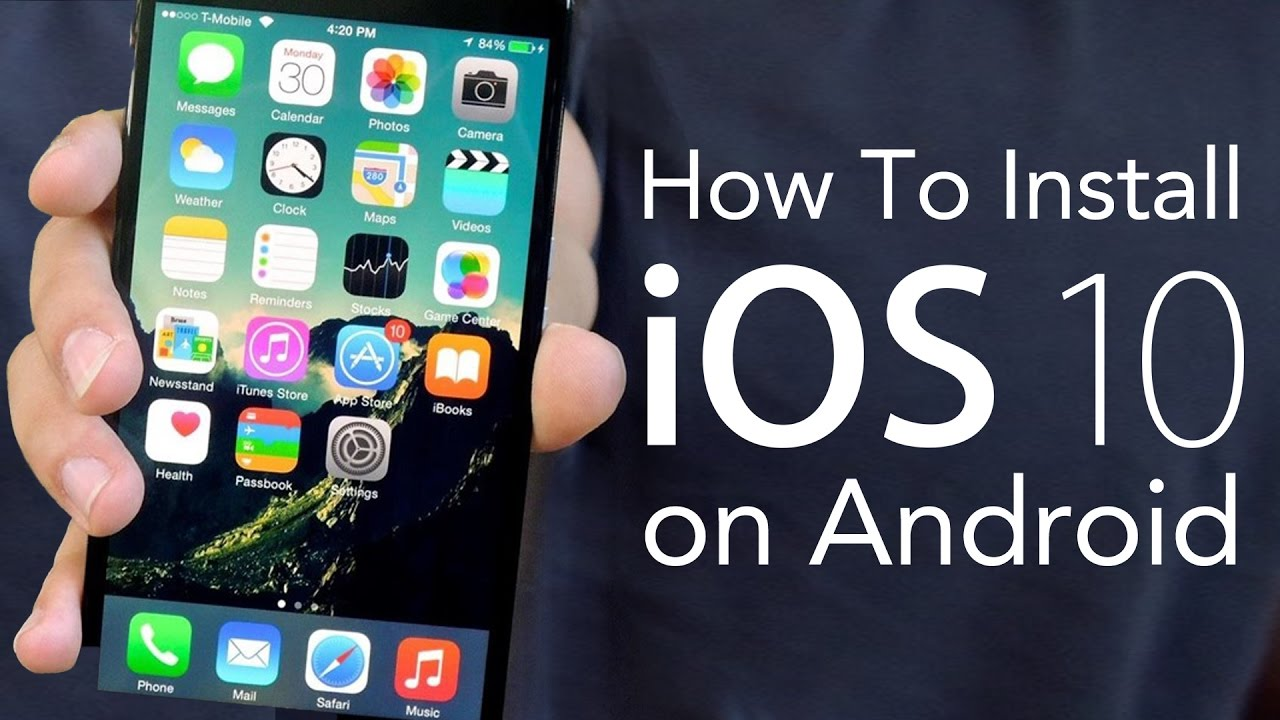 how to add photos to iphone how to install ios 10 on android make your android phone 2606