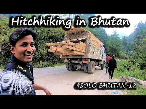 Hitchhiking In Bhutan With Bhutanese Family || Haa Valley To Phuentsholing || SOLO Bhutan - 12