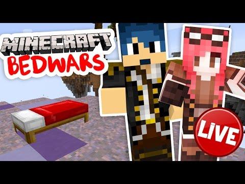 Minecraft Bedwars - Live - w/SpJockey and Lokk1
