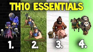4 Go-To Attack Strategies for TH10s | Best 3-Star Methods