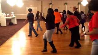 GAGA Slide ATLANTIC CITY NJ STYLE Ga Ga Slide Soul Line Dance with Stephboogie & Vanilla Soul