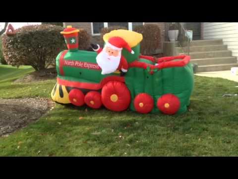 gemmy animated christmas train