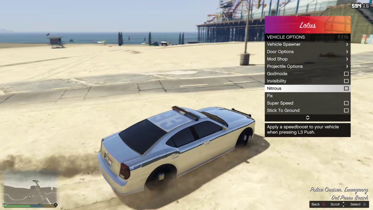 GTA V Lotus Mod Menu for PS4 Firmware 5 05 & Demo Video by 0x199