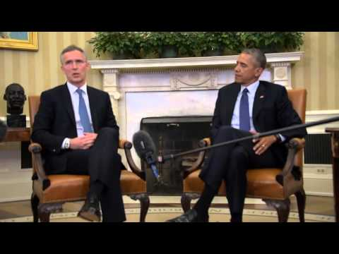 NATO Secretary General with US President Barack Obama, 4 APR 2016