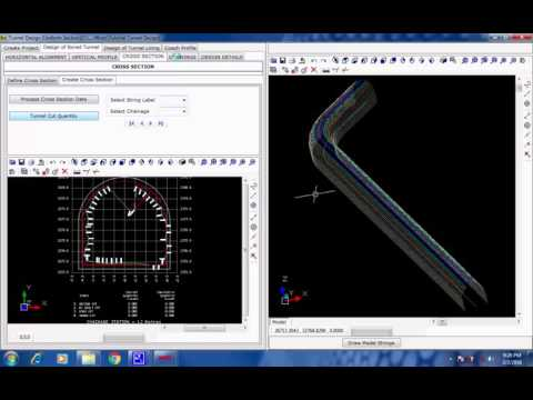 Tutorial 22 Design of Bored Tunnel with Robotic Total Station Survey Data