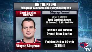 Top Rookie Wayne Simpson Returns to Stingrays