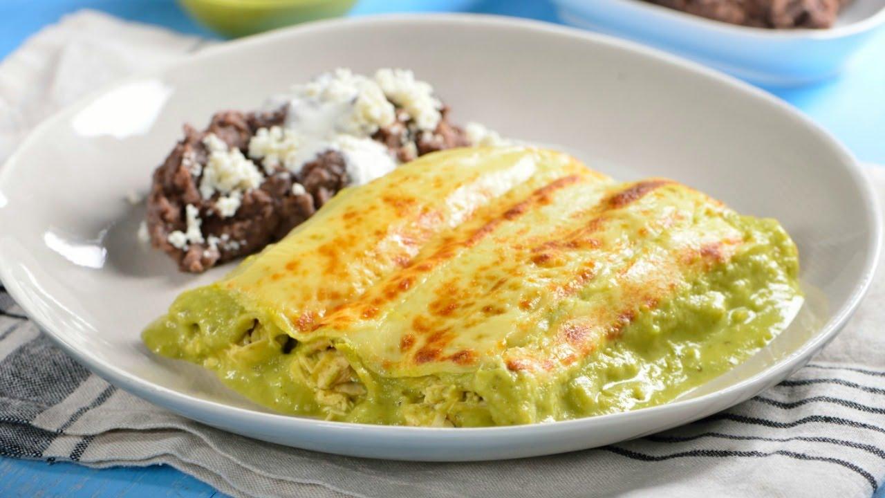 Cómo hacer Enchiladas Suizas   Desayuno Mexicano - YouTube