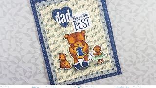 Teddy Bear Father's Day Card for Elizabeth Craft Designs