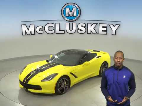 A15297GT Used 2016 Chevrolet Corvette Stingray Z51 Coupe Yellow Test Drive, Review, For Sale -