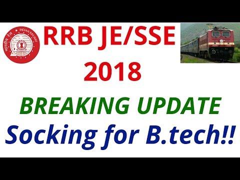 Breaking Update   RRB JE/SSE Recruitment 2018 !
