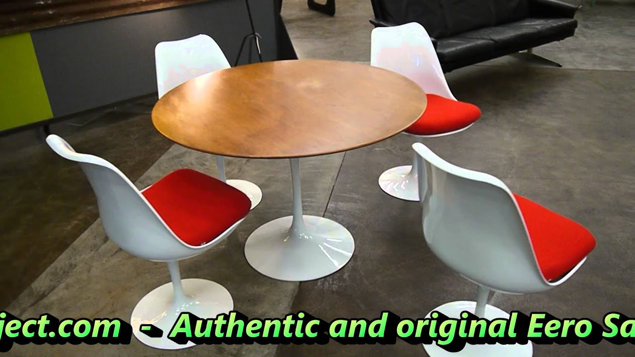 Theprojectcom Eero Saarinen Tulip Table For Knoll YouTube - Original tulip table