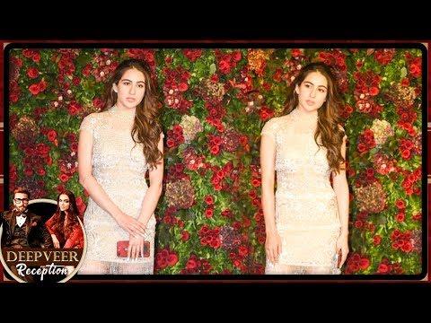 Sara Ali Khan BEAUTIFUL Look At Ranveer Singh Deepika Padukone Mumbai Reception Party 2018
