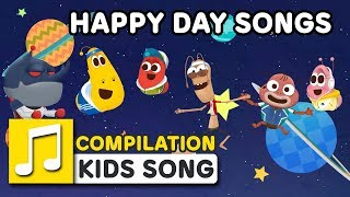 HAPPY DAY SONGS | COMPILATION  | Nursery Rhymes | LARVA KIDS Songs for Children