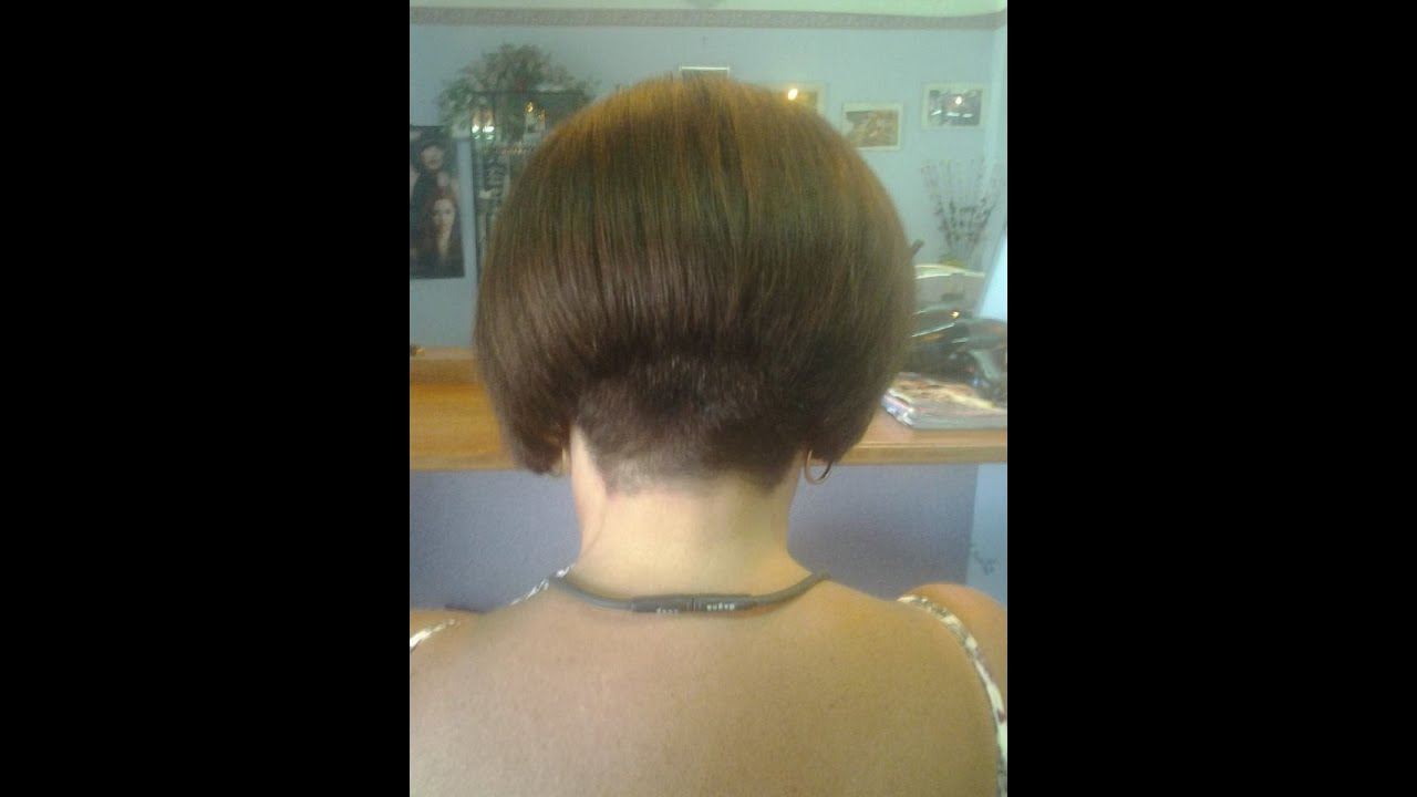 Hair Makeover  Bob Haircut with a Buzzed Nape  YouTube
