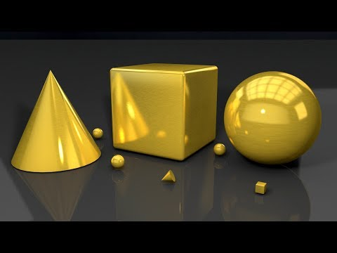 Cinema 4D R18 Gold Brush Material | Cinema 4D R18 Material Tutorial