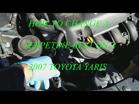 how to change a serpentine belt on a 2007 toyota yaris!!! youtube 2007 Toyota Yaris Body Electrical Diagram