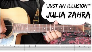 Julia Zahra - Just an Illusion 🎸GUITAR TUTORIAL🎸