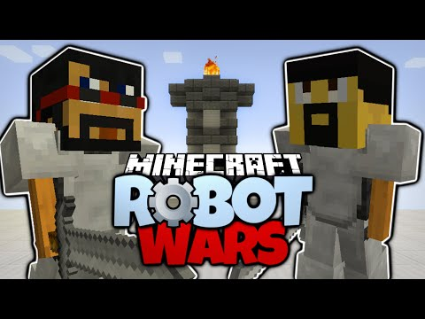 Minecraft   CAPTAINSPARKLEZ VS ANTVENOM   WORKING ROBOTS! Minecraft Robot Wars (Minecraft Redstone)