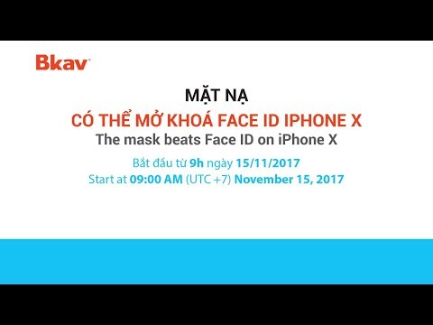 BKAV - The mask beats Face ID on iPhone X