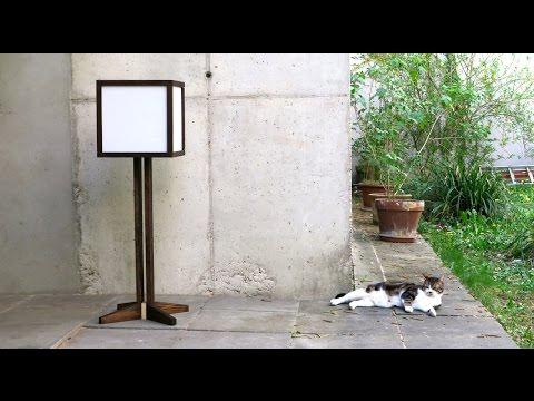 Fabrication d'une lampe moderne en bois et papier de riz (lampadaire)