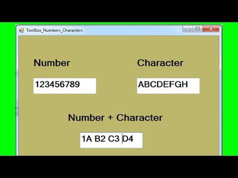 C# - How to make a Textbox Accepts Only Numbers Or Only