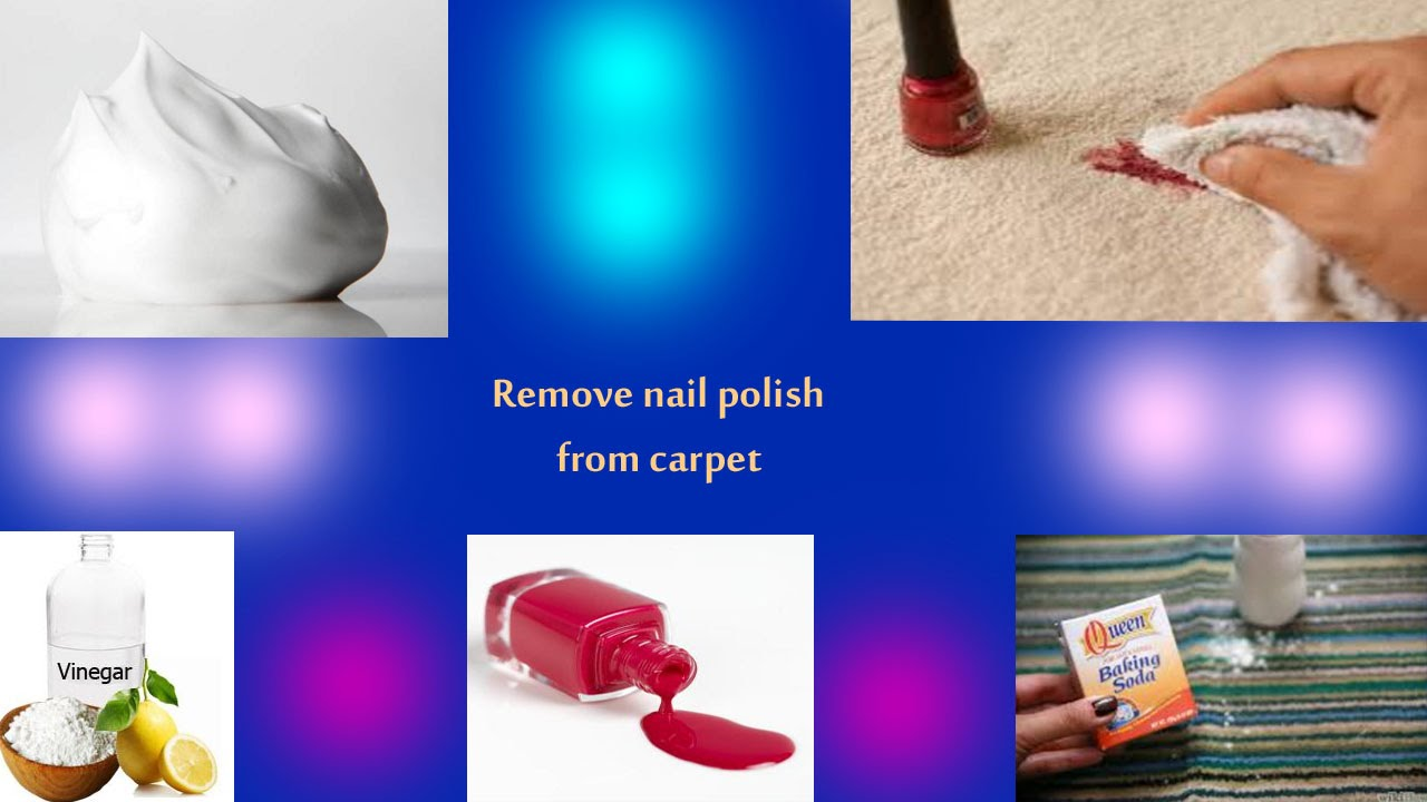 how to get rid of nail polish remover from carpet