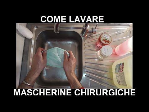 Come lavare mascherine chirurgiche