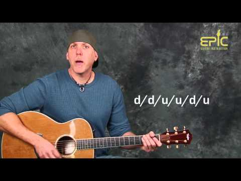 Acoustic guitar lesson learn Soul Asylum Runaway Train EZ fun strumming just 5 chords