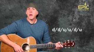 Acoustic guitar lesson learn Soul Asylum Runaway Train EZ fun strumming just 5 chords