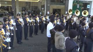 Walker Valley High School Marching Band warmup before London NYDP 20130101 .wmv