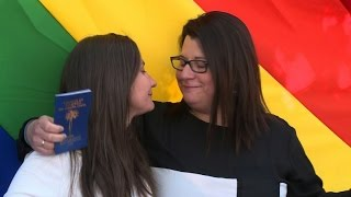 Chile celebrates first same-sex civil union